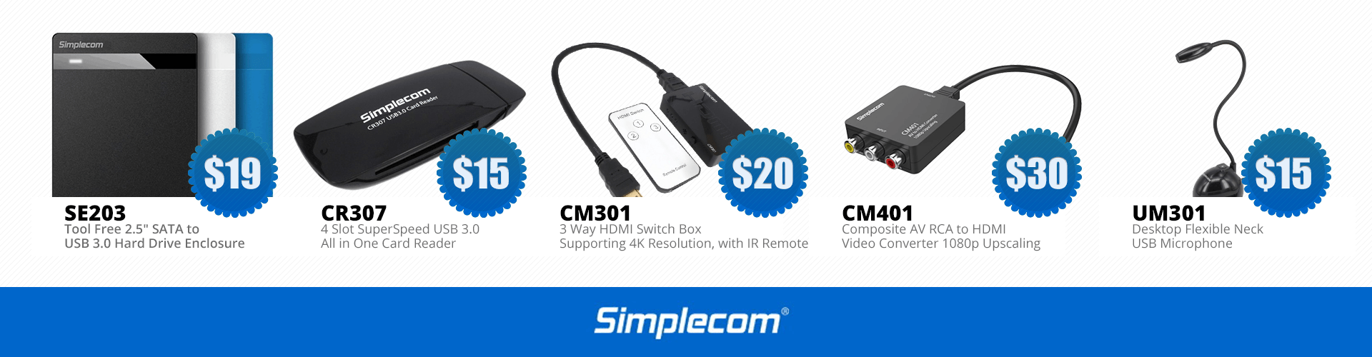 A range of Simplecom products from Hot Spot Computers.