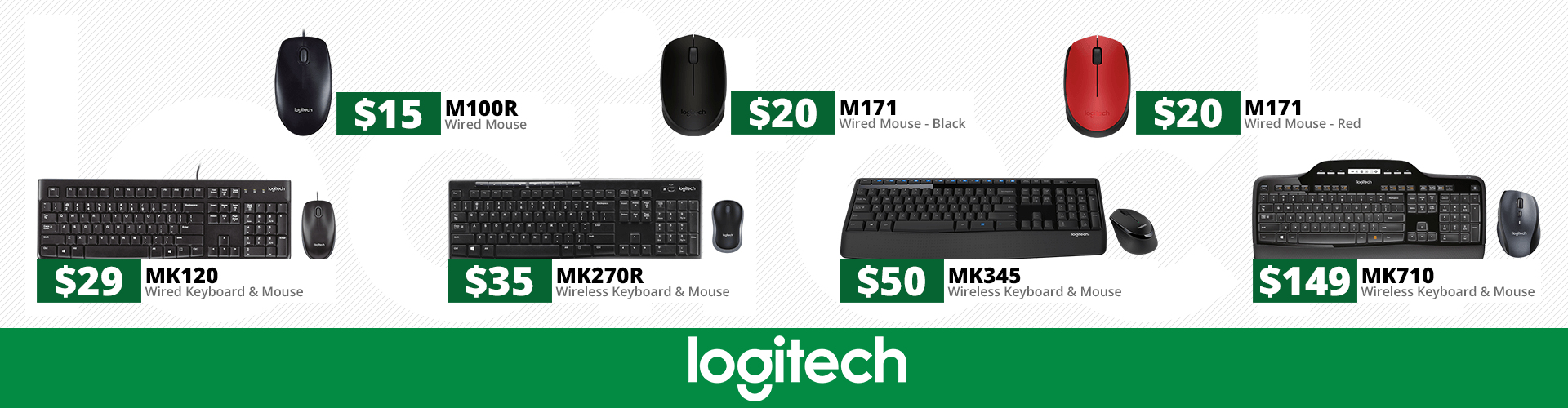 A range of Logitech products from Hot Spot Computers.